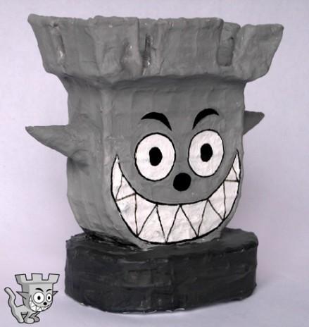 Castle Cat sculpture