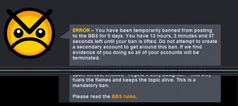 Banned again!