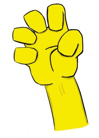 Hi,look at my hand!