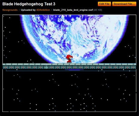 4-4-2010-Working On New Game- Blade The Hedgehog 2010-Engine Test 3