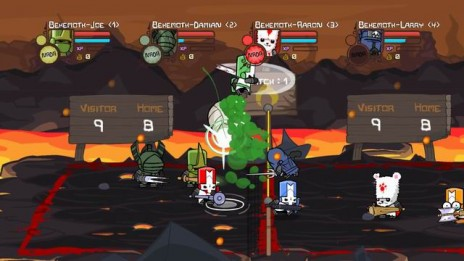 Castle Crashers Volley Ball game from The BEHEMOTH