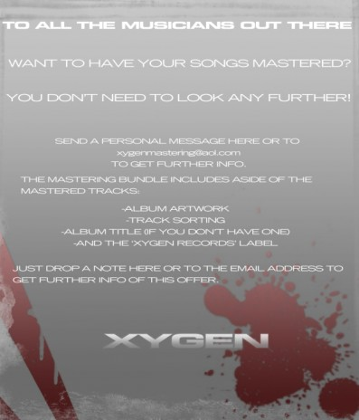 XYGEN WANTS YOU!