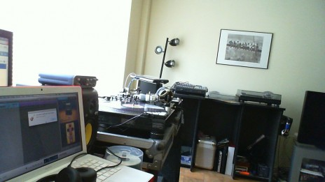 My current recording area.