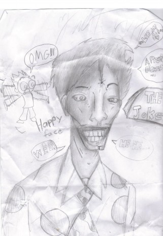 i drew the joker in art class