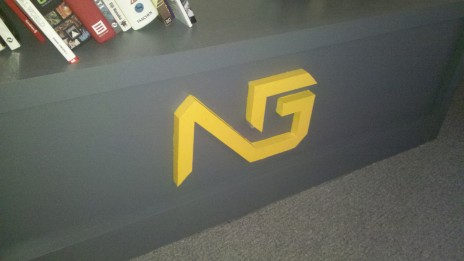 My Ng Logo Redesign On Ng Office Book Shelf By Jakbaronking