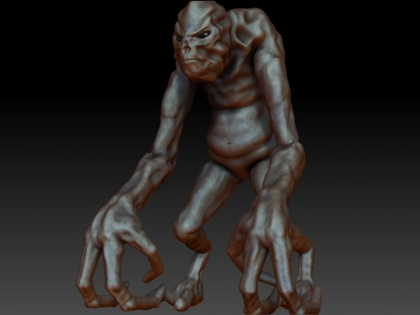 The Alien First Character for Professional level 3d animation
