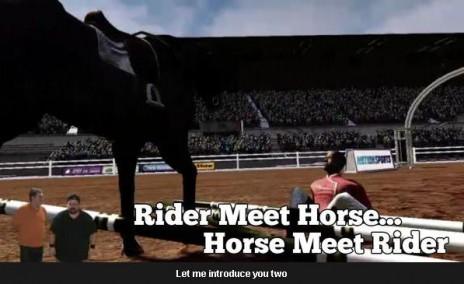 RIDER MEET HORSE, HORSE MEET RIDER