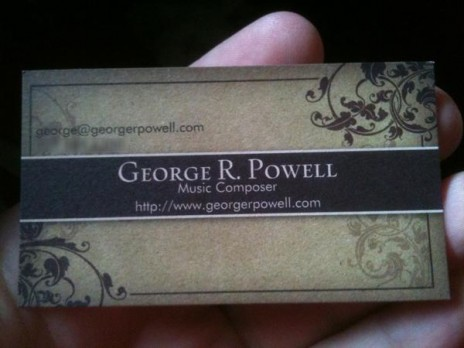 Business Cards and other such news