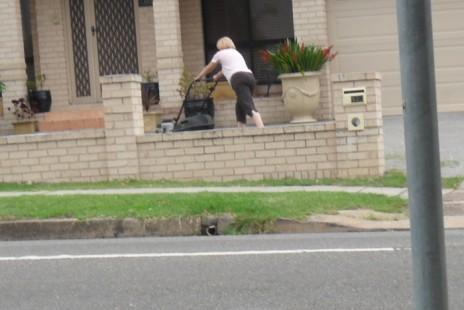 Work that lawn mower.