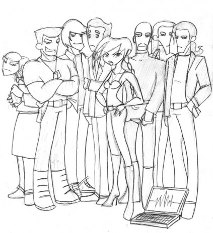 Characters of the Wanted Dead and Alive project
