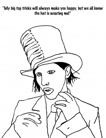 Marilyn Manson coloring book!!