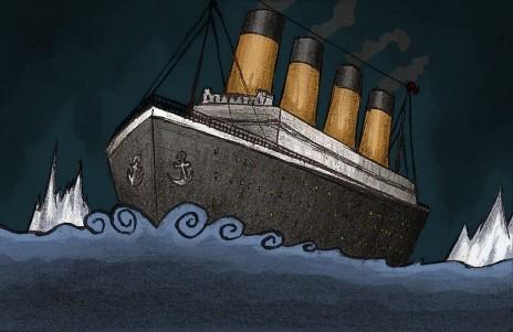 The Titanic sank.