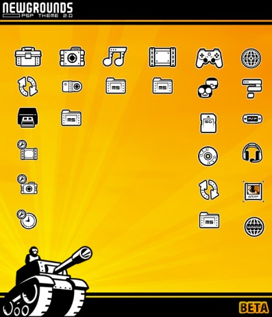 Newgrounds PSP Theme 2.0 Ultimate