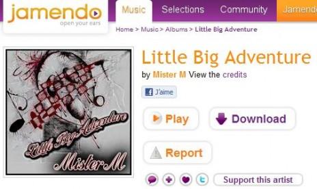 "New album  ""Little Big Adventure"" available on Jamendo!"