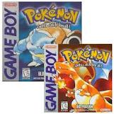 Pokemon Blue, yellow, red and green.