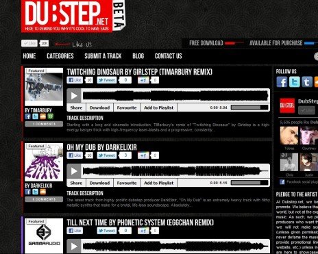 Twitching Dinosaurs Remix on Dubstep.net Frontpage!