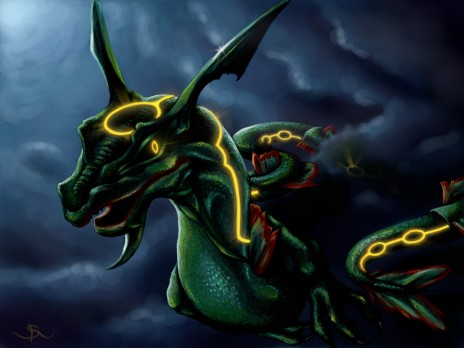 this is how rayquaza would look like if it was real