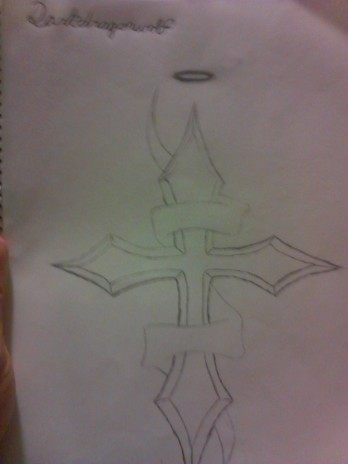 drew this cross