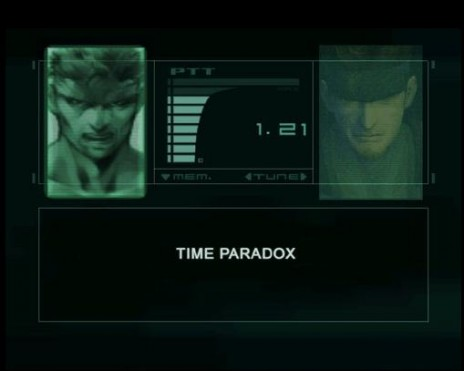 Snake! You've created a TIME PARADOX!