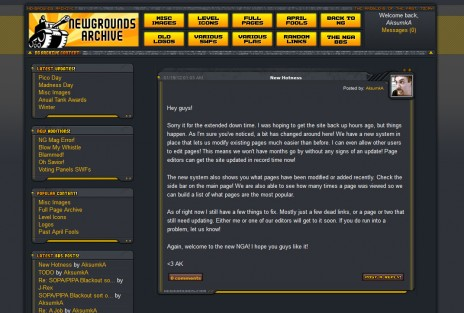 Newgrounds Archive Redesigned!