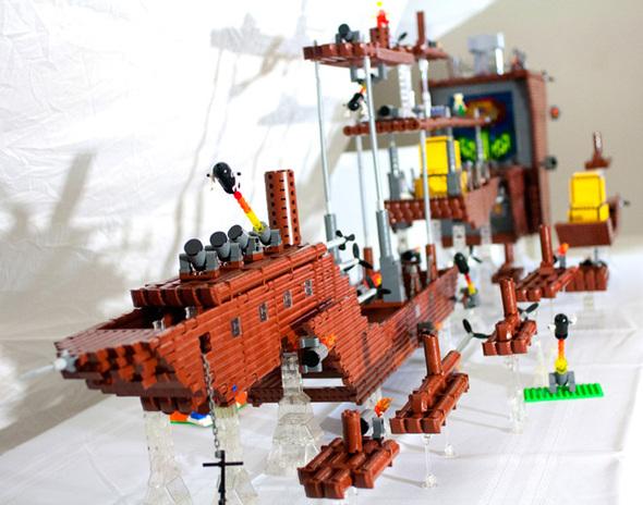 """The Fireflower"" -- LEGO Super Mario 3 airship replica!"