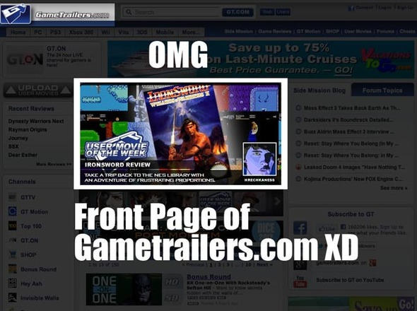 Newgrounds Member featured on Gametrailers!