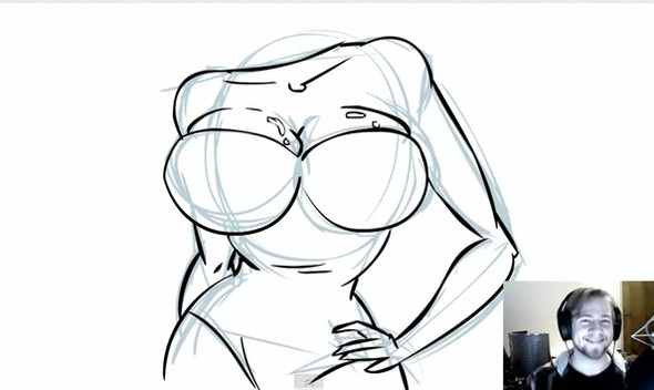 Video Drawing Tutorials! And Boobies!