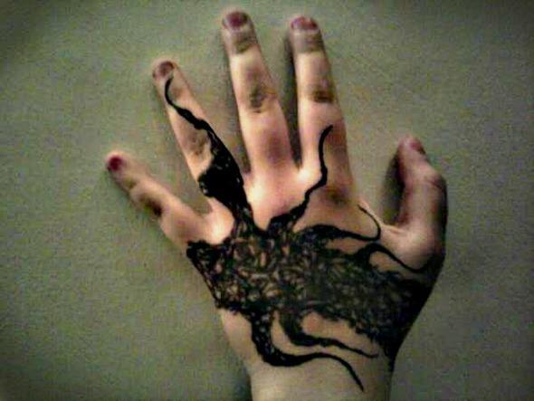 Interesting hand tattoo idea?