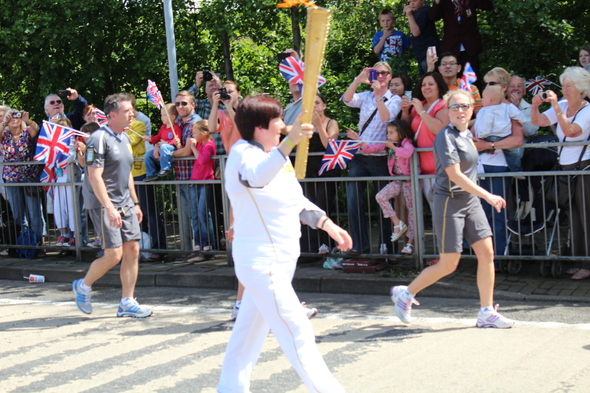 The Olympic torch came to my town!