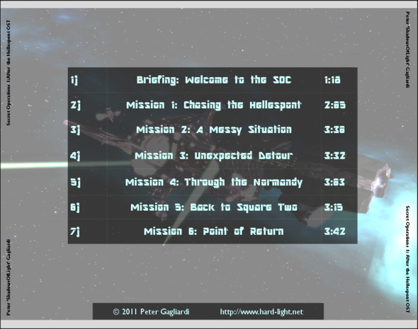 Secret Operations 1: OST - Tracklist