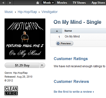 My first Newgrounds single is now available on iTunes and is being distributed by LL Cool J's very own record label!