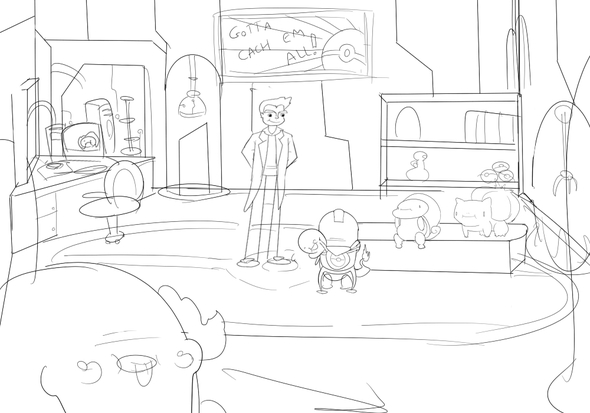 Working on a pokemon animated short!