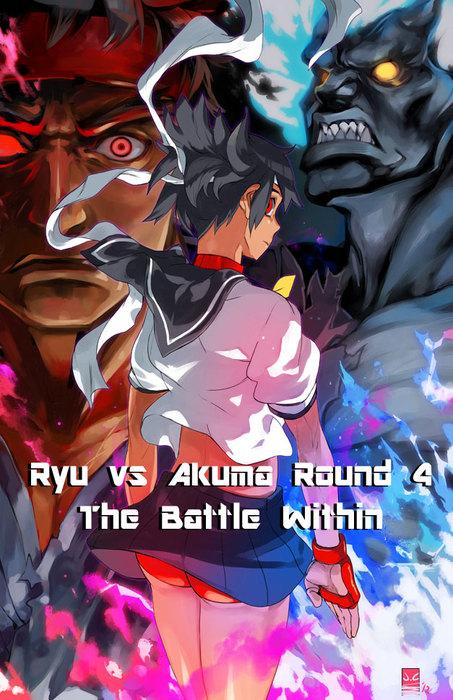 Ryu vs Akuma Round 4