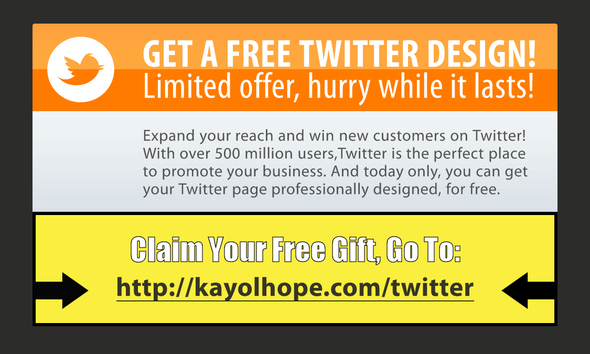 Offering a FREE CUSTOM TWITTER PAGE Design, Hurry Only for a Limited Time!