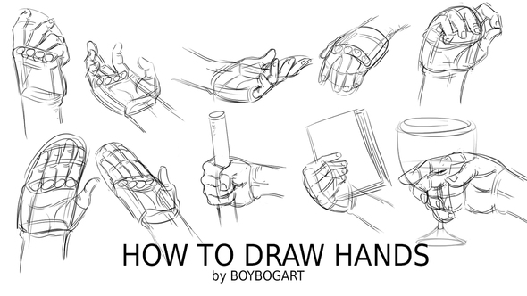 Free tutorial - How to draw hands