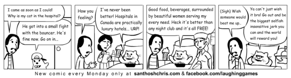 Canadian Hospitals better than Night Clubs!