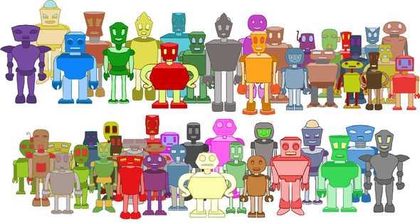 Look at how many robots I drew!