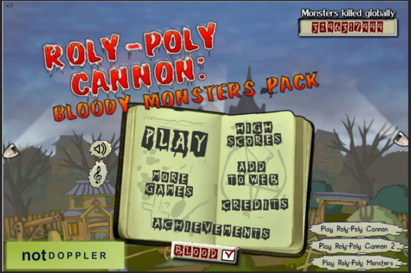 Roly Poly Cannon Bloody Monsters Pack