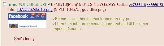 Facebook imperial guards