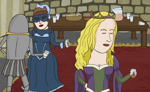 How to crash a medieval party.