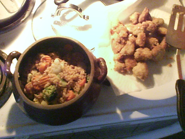 I made some General Tso Chicken