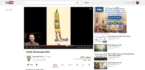 Artwork featured on Youtube (Jazza's Artist Showcase #34)