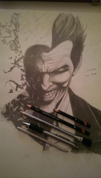 A3 Joker pencil drawing.