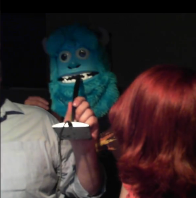 Me on the Stream in a Sully mask
