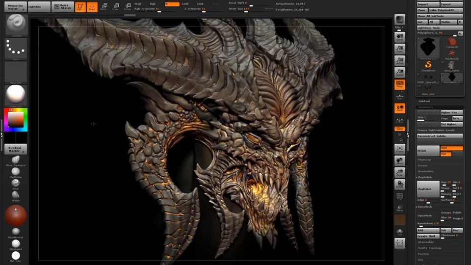 Hand Painted Workflow Zbrush