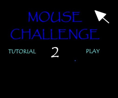 Mouse Challenge 2 - Main Menu - Early Screenshot - Work in Progress!