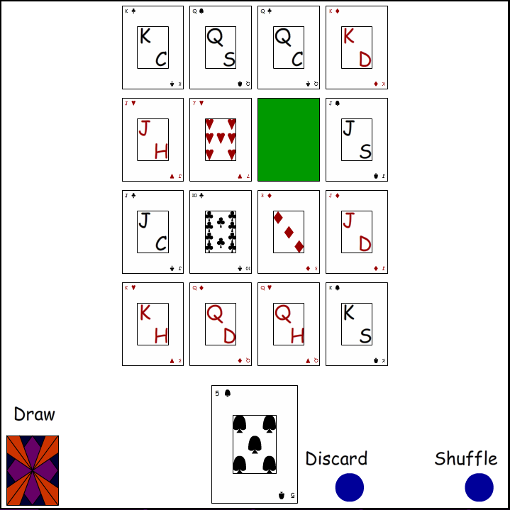Kings' Corners Solitaire Basic Layout