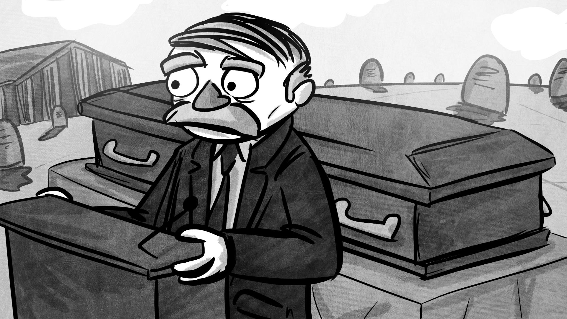 Nwar detective cartoon