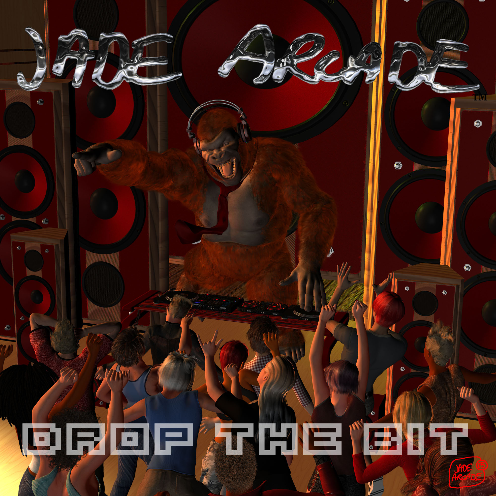 "Cover art for my new album ""Drop the Bit"""