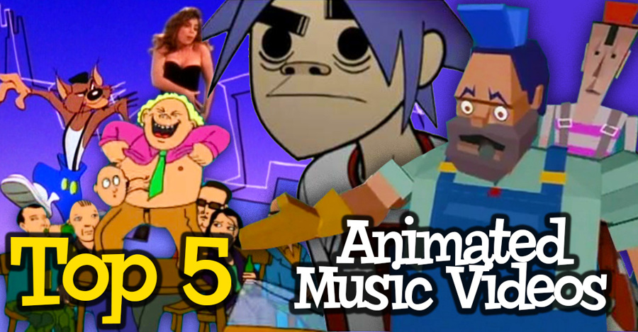 top 5 animated music videos - rubberonion animation podcast - gorillaz, paula abdul, radiohead, dire straights, green jelly